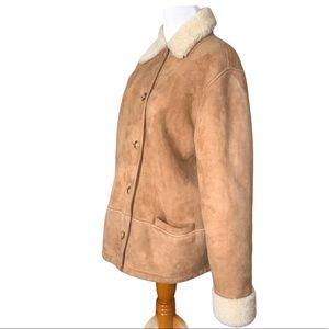 RL Ralph Lauren Shearling Lamb Jacket Vintage Coat
